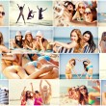 Girls having fun on the beach — Stock Photo #75498501