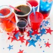 Drinks on american independence day party — Stock Photo #75506563