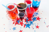 Drinks on american independence day party — Stock Photo