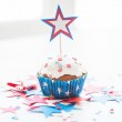 Cupcake with star on american independence day — Stock Photo #75807653