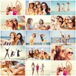Girls having fun on the beach — Stock Photo #76369599
