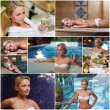 Beautiful young woman relaxing at luxury spa — Stock Photo #76369637