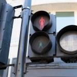 Red pedestrian traffic lights — Stock Photo #78107042