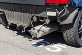Close up of truck exhaust pipe — Stock Photo