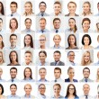 Collage with many business people portraits — Stock Photo #78623522