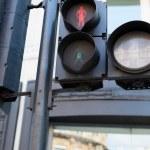 Red pedestrian traffic lights — Stock Photo #79073644