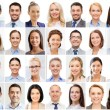 Collage with many business people portraits — Stock Photo #79482808