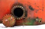 Opened rusty manhole — Stock Photo