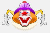 Payaso feliz — Vector de stock