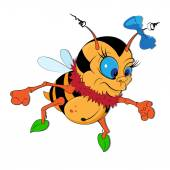 Funny little bumble-bee — Vecteur