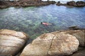 Sea snorkling — Stock Photo