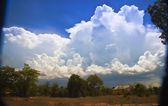 Landscape with cloud — Stock Photo