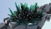 Green crystalls — Stock Photo