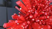 Red crystals — Stock Photo