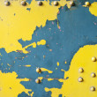 Scratched yellow wall made of metal — Stock Photo #55200991