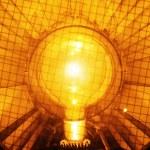 Bright and orange light bulb — Stock Photo #55221971