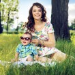 Pretty mother having fun with her baby — Stock Photo #55229617