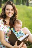 Adorable mom with cute child — Stock Photo