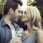 Moment before the romantic kiss — Stock Photo