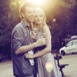 Portrait of the two young lovers — Stock Photo