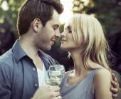 Moment before the romantic kiss — Stock Photo
