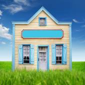 Fancy picture of the simple wooden house — Stock Photo