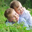 Portrait of two cheerful brothers — Stock Photo #56674401