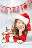 Beautiful little girl enjoying Christmas — Stock Photo