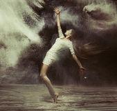 Ballet dancer in the magic dust figure — Stock Photo