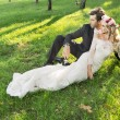 Art photo of the relaxed marriage couple — Stock Photo #59239961
