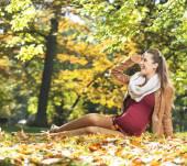 Portrait of pretty pregnant woman — Stock Photo