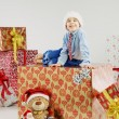 Little cute boy in the Christmas mood — Stock Photo #60402665