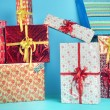 Picture presenting the Christmas presents — Stockfoto #60403501