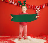 Little cute elf in Christmas mood — Stock Photo