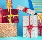 Picture presenting the Christmas presents — Stock Photo