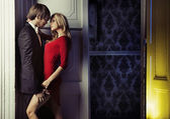 Fijne schot van een romantisch paar — Stockfoto