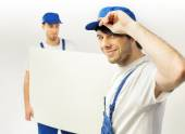 Fine shot of two working employees — Stock Photo