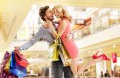 Man buying everything for his wife — Stock Photo