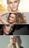 Multiple portrait of four stunning ladies — Stock Photo