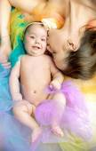 Pretty mother with her lovely child — Stock Photo