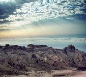 美丽的山景观的早晨 — 图库照片