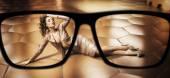 Focus on glamorous brunette woman — Stock Photo