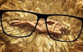 Focus on the slim blond lady — Stock Photo