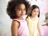Portrait of two little girls — Stock Photo