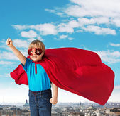 Portrait of a little superhero — Stock Photo