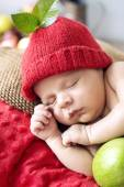 Little boy during a short nap — Stock Photo