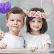 Charming little children posing together — Stock Photo #74126951