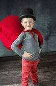 Portrait of a proud little magician — Stock Photo