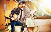 Romantic portrait of people in love — Stock Photo