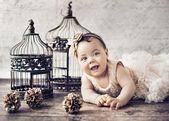 Portrait of a little cute girl — Stock Photo